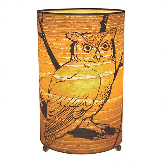 Owl Cylinder Lamp (Small) by Micky & Stevie