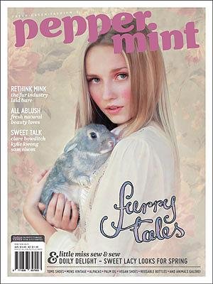 Peppermint Magazine Issue 7 Cover - Furry Tales