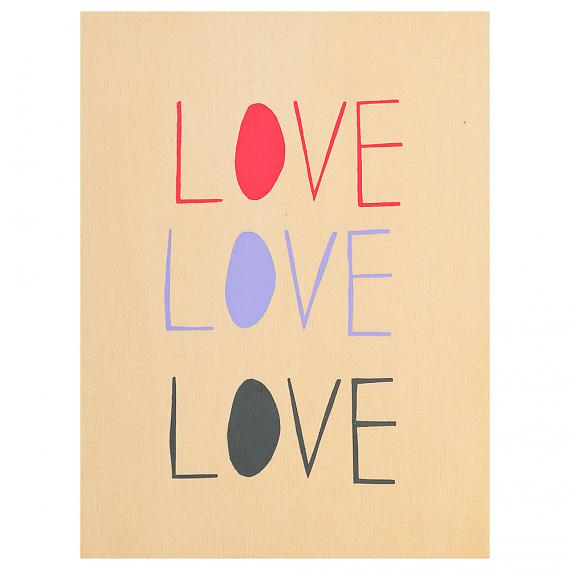 Love Love Love Print on Ply Candy handmade in Australia by me and amber