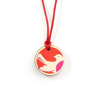 Wooden Robin Childrens Pendant - Warms by Sweet Polli