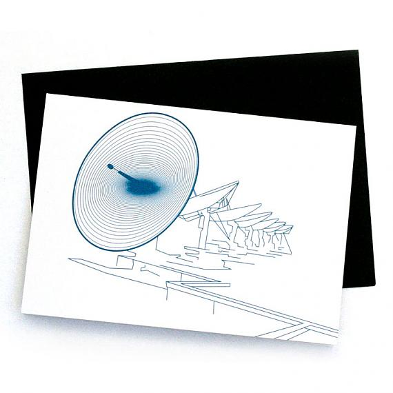 Satellite Greeting Card by Non-Fiction