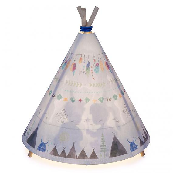 Teepee Table Lamp - Blue | Grey - designed in Sydney by Micky & Stevie