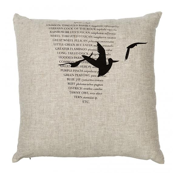 Three Birds Cushion - Natural, handmade in Australia by me and amber
