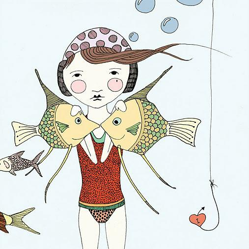 Under the Sea Print detail by Nikki Catalano