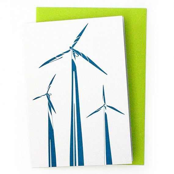 Wind Turbines Greeting Card by Non-Fiction