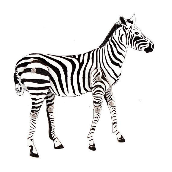 Articulated Zebra Brooch designed in Australia by Love Hate